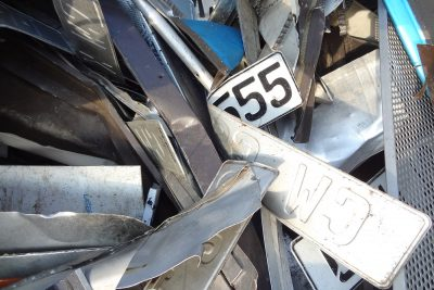 Aluminium und Blech gemischt
